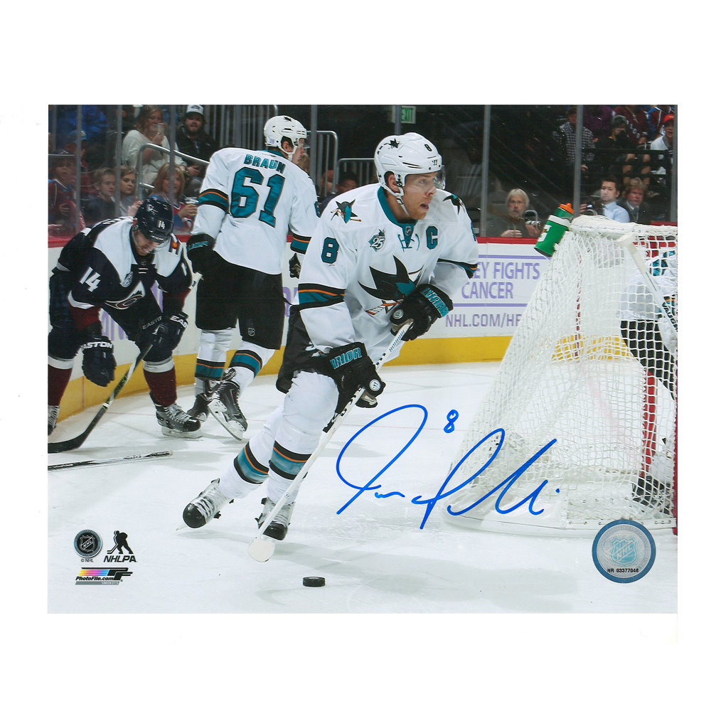 JOE PAVELSKI Signed San Jose Sharks 8 X 10 Photo  - 70364