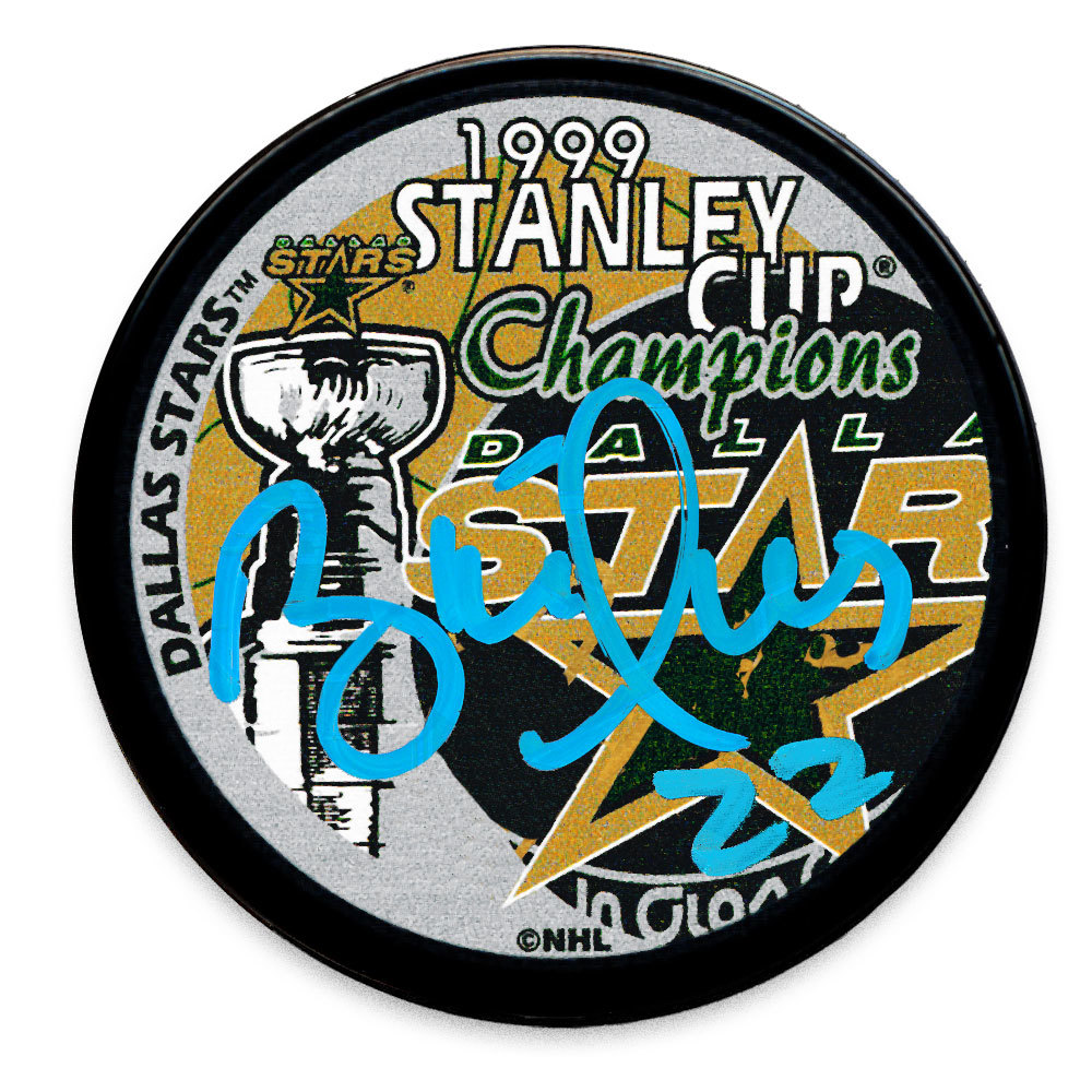 Brett Hull Dallas Stars 1999 Stanley Cup Champions Autographed Puck