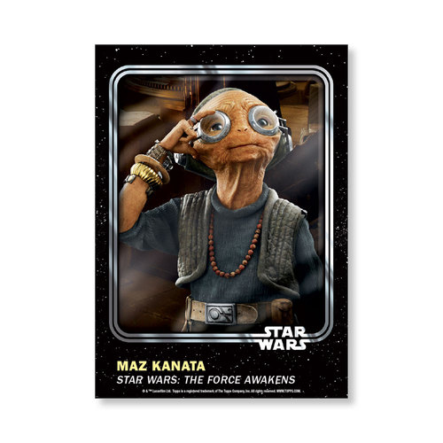 Maz Kanata 2016 Star Wars Card Trader Base Poster - # to 99