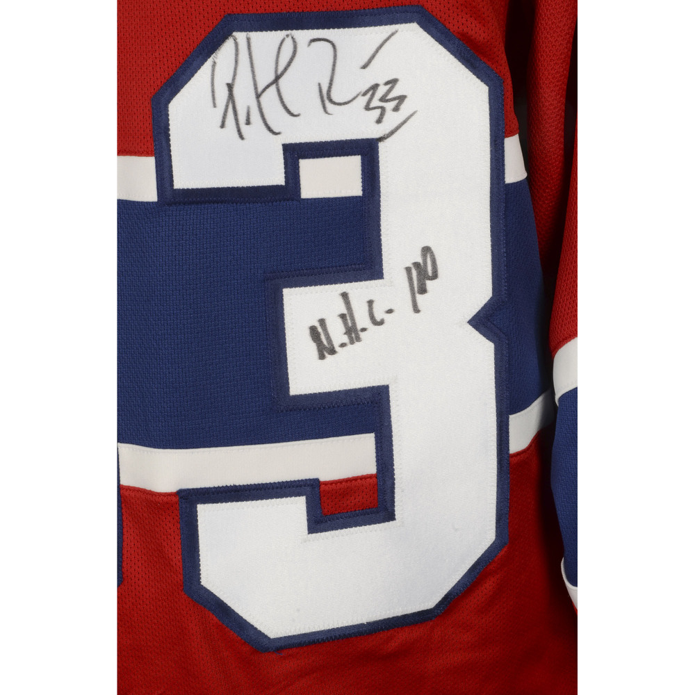 Patrick Roy Montreal Canadiens Autographed Reebok Premier Jersey with  Centennial Patch and NHL 100 Inscription. Auctioned by the National Hockey  League ... 70cba5ca7