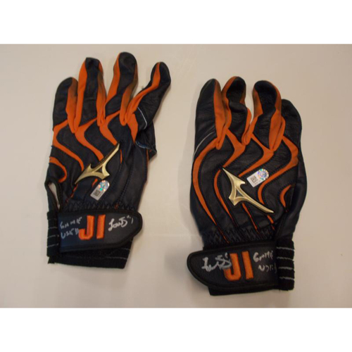 Autographed Jose Iglesias Batting Gloves