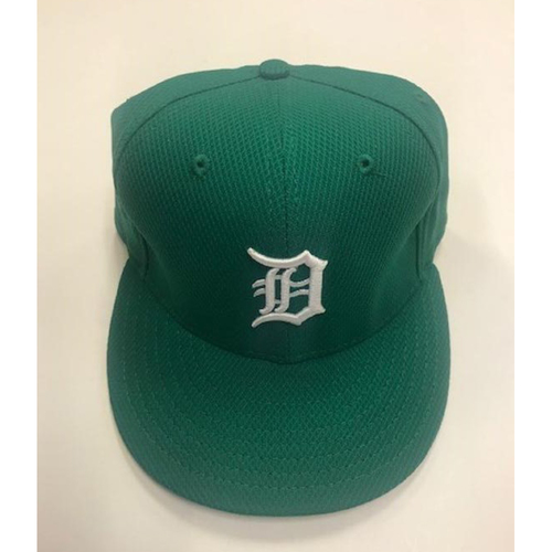 Photo of Game-Used St. Patrick's Day Cap: Drake Britton