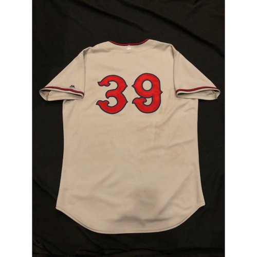 Photo of Devin Mesoraco - Game-Used Jersey - Commemorative 1937 Cincinnati Tigers Negro League Throwback Jersey