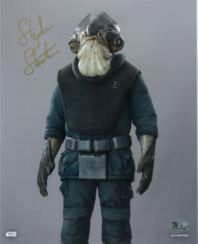 Stephen Stanton as Admiral Raddus 8x10 Autographed in Gold Ink Photo