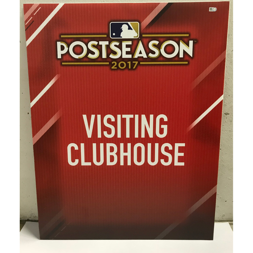 Photo of Postseason 2017 Visiting Clubhouse Signage