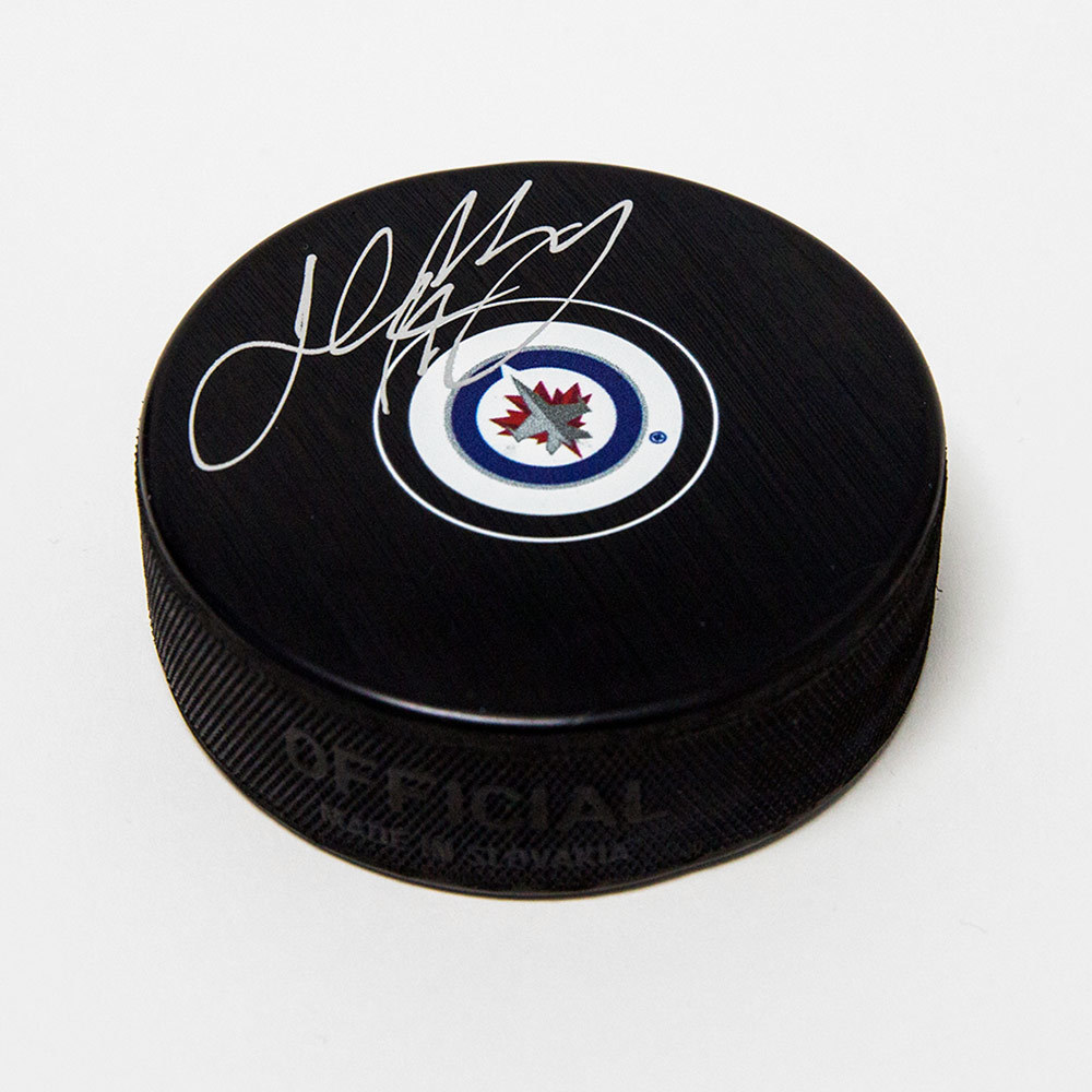 Josh Morrissey Winnipeg Jets Signed Autograph Model Hockey Puck