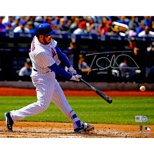 "Photo of Travis d'Arnaud New York Mets Autographed 8"" x 10"" White Hitting Photograph"
