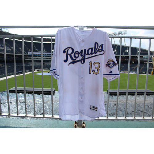 Photo of Game-Used Jersey: Salvador Perez Walk-Off Grand Slam (Size 48 - MIN @ KC - 9/14/18)
