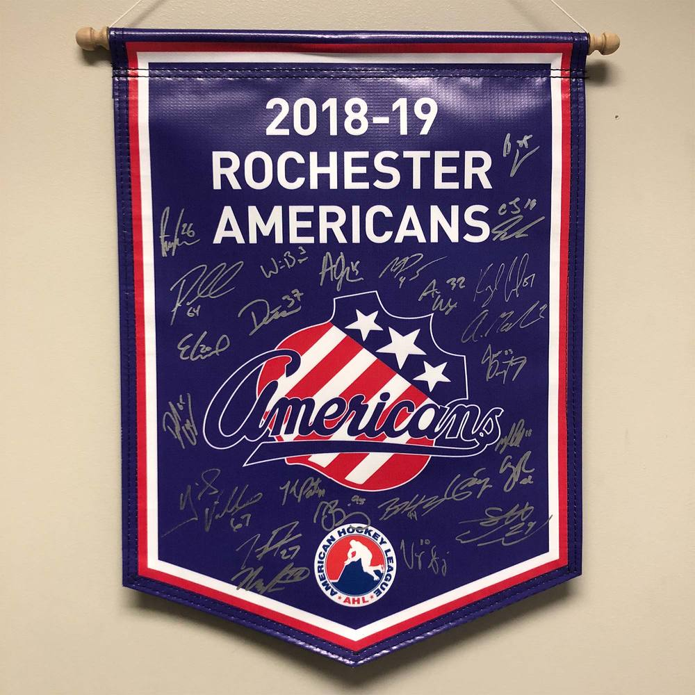 2018-19 Rochester Americans Team-Signed Banner
