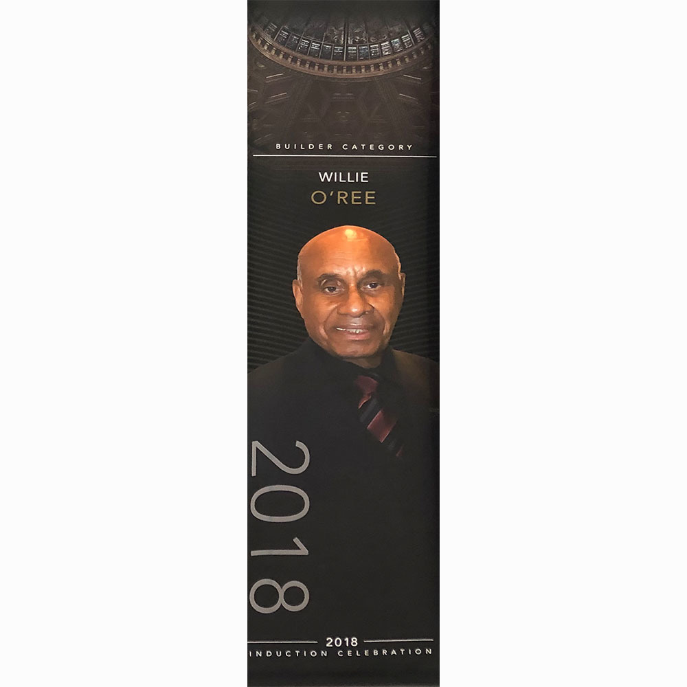 Willie O'Ree 2018 Hall of Fame Induction Banner