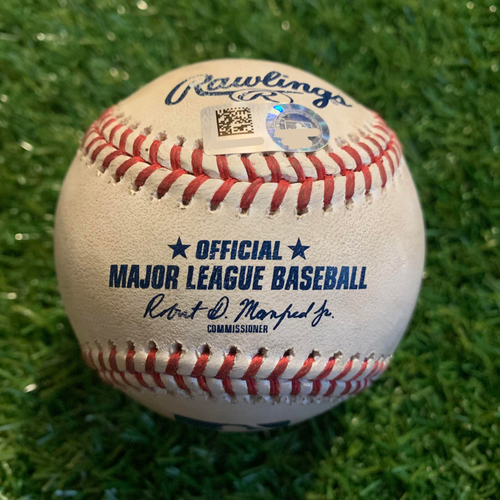 Photo of Game-Used Baseball: Eloy Jimenez 7th Career Home Run and 15th and 16th Career RBIs (CWS @ KC - 6/8/19)