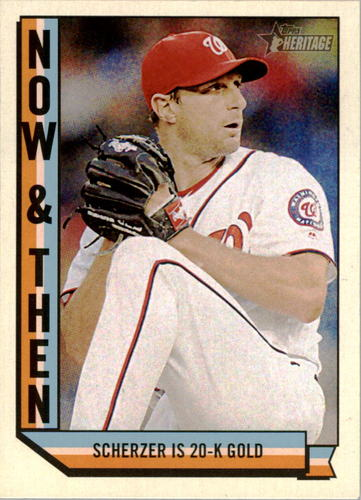 Photo of 2016 Topps Heritage Now and Then #NT7 Max Scherzer