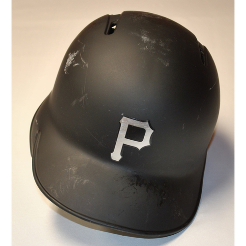 "Photo of Josh ""JB"" Bell Pittsburgh Pirates Game-Used 2019 Players' Weekend Helmet (Left-Handed)"