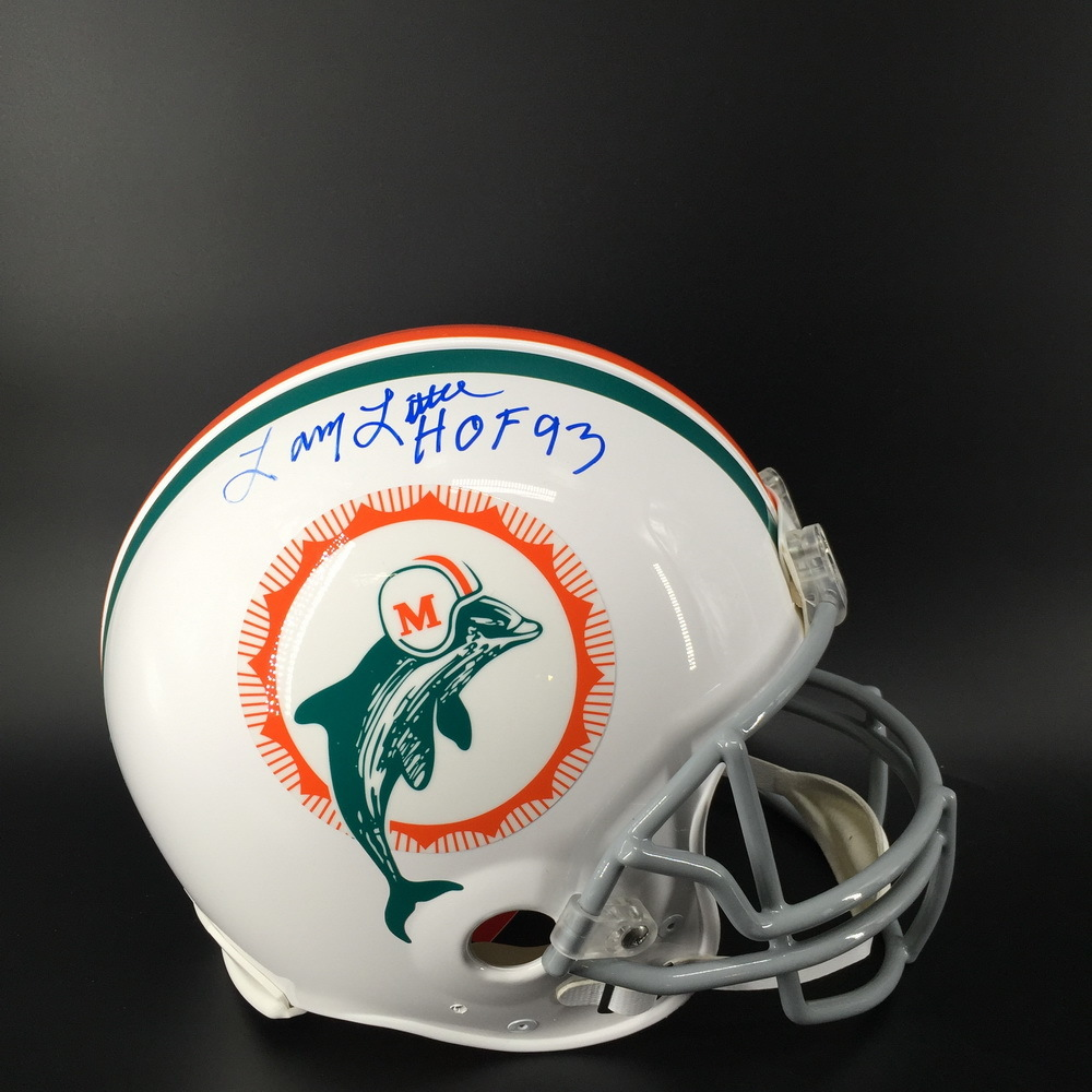 HOF - Dolphins Multi Signed Throwback Proline Helmet Signed by (Bob Griese Larry Little, Paul Warfield