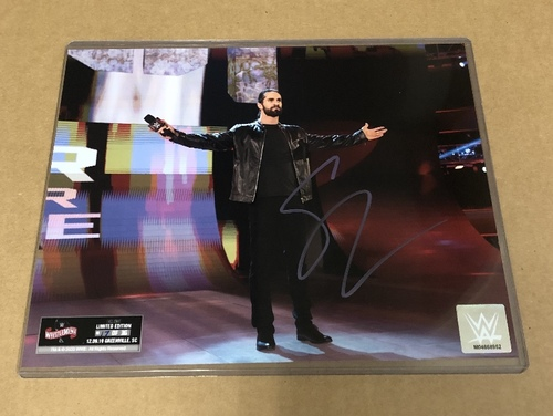 Photo of Seth Rollins SIGNED WrestleMania 36 Exclusive Photo (Random Number)