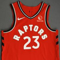 Fred VanVleet - Toronto Raptors - Game-Worn Icon Edition Jersey - NBA Japan Games - Double-Double - 2019-20 NBA Season