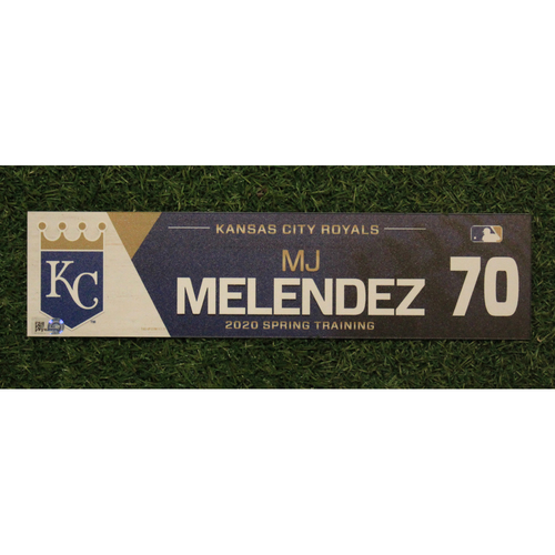 Photo of Game-Used Spring Training Locker Tag: MJ Melendez #70