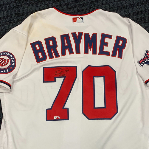 Photo of Washington Nationals Philanthropies Jerseys Off Their Back Auction - Ben Braymer - Autographed Game-Used Jersey - Size 46