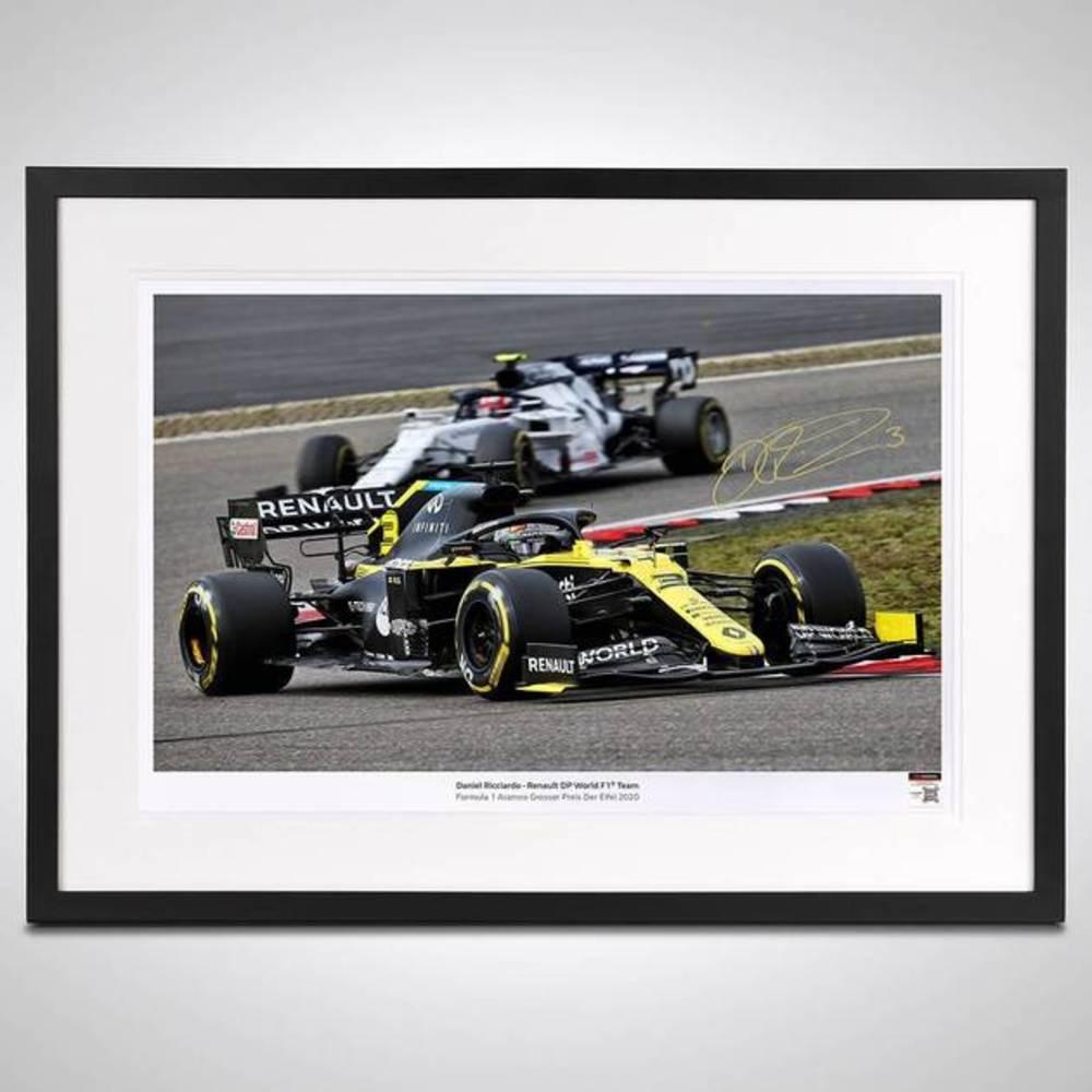 Daniel Ricciardo 2020 Framed Signed Photograph - German GP
