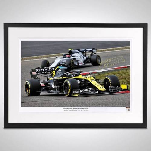 Photo of Daniel Ricciardo 2020 Framed Signed Photograph - German GP