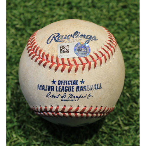 Photo of Game-Used Baseball: Yolmer Sanchez 111th Career Double & Yasmani Grandal 700th Career Hit (CWS @ KC 9/6/20)