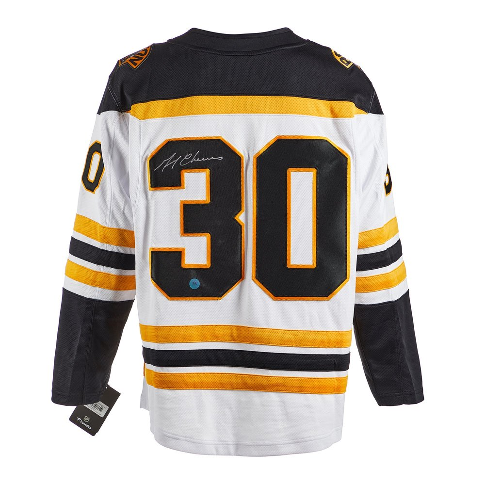 Gerry Cheevers Boston Bruins Signed White Fanatics Jersey
