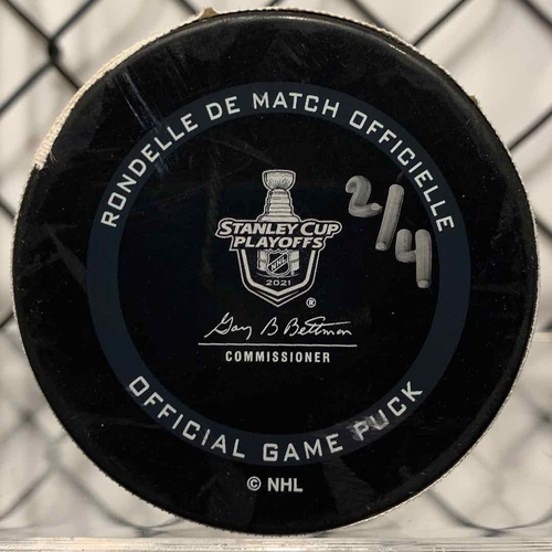2021 SCP North Division Round 1 Game Used Puck (LE #2 of 4)