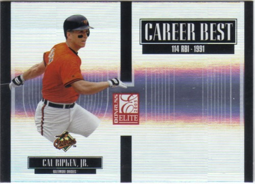 Photo of 2005 Donruss Elite Career Best #8 Cal Ripken
