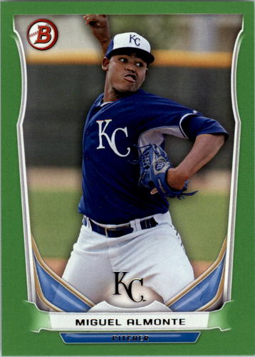 Photo of 2014 Bowman Draft Top Prospects Green #TP71 Miguel Almonte