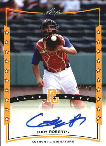 Photo of 2014 Leaf Perfect Game Showcase Autographs Gold #ACR1 Cody Roberts/50