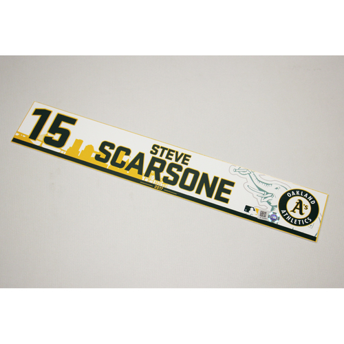 Steve Scarsone 2017 Home Clubhouse Locker Nameplate