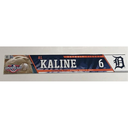 Photo of Team-Issued Opening Day Locker Name Plate: Al Kaline