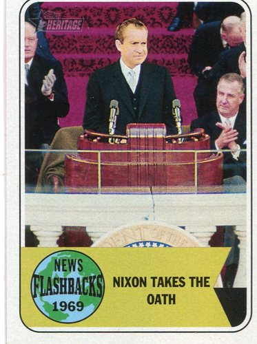 Photo of 2018 Topps Heritage News Flashbacks #NF10 Richard Nixon