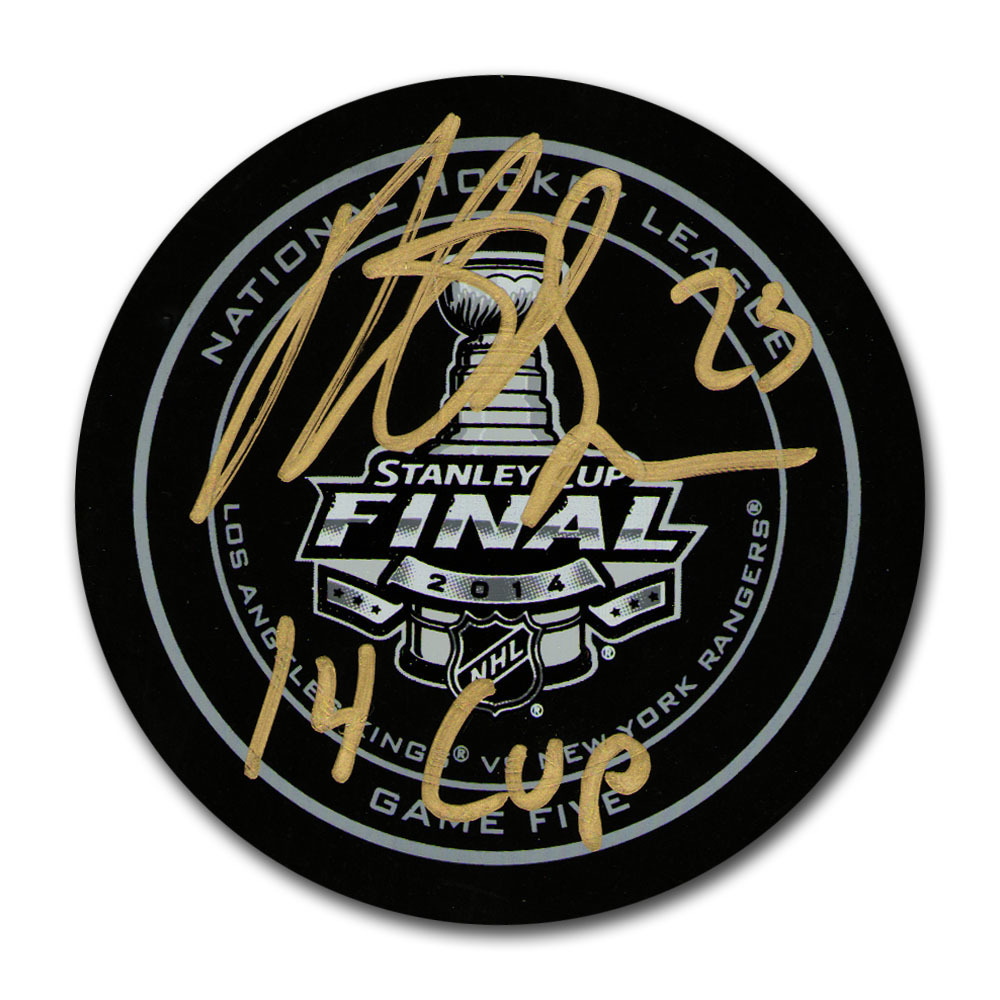 Dustin Brown Autographed 2014 Stanley Cup Final Official Game Five Puck w/14 CUP  Inscription (Los Angeles Kings)