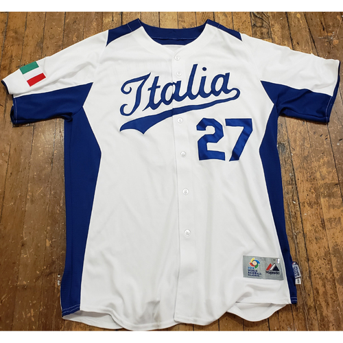 Photo of 2013 World Baseball Classic Game Used Jersey - Frank Catalanotto - Size 46 (Italy)