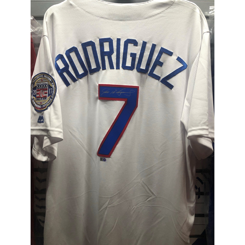 Photo of Ivan Rodriguez Hall Of Fame Patch White Replica Jersey
