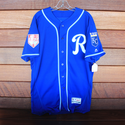 Photo of Game-Used Spring Training Jersey: Alex Gordon (Size 46 - COL @ KC - 2/25/19)