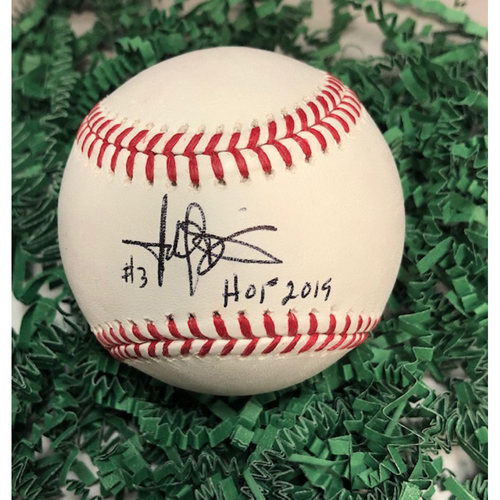Photo of Harold Baines Autographed Baseball with HOF Inscription