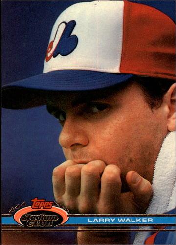 Photo of 1991 Stadium Club #93 Larry Walker