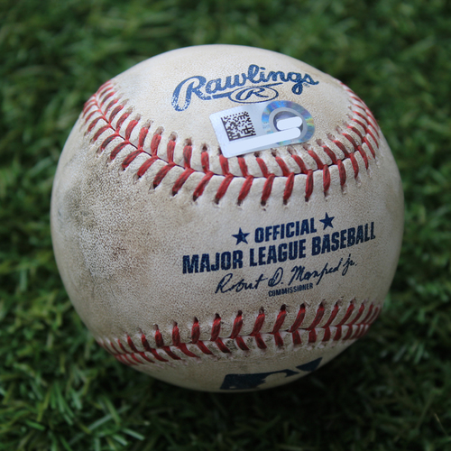 Photo of Game-Used Baseball: Alex Gordon 187th Career Home Run (CWS @ KC 8/2/20)