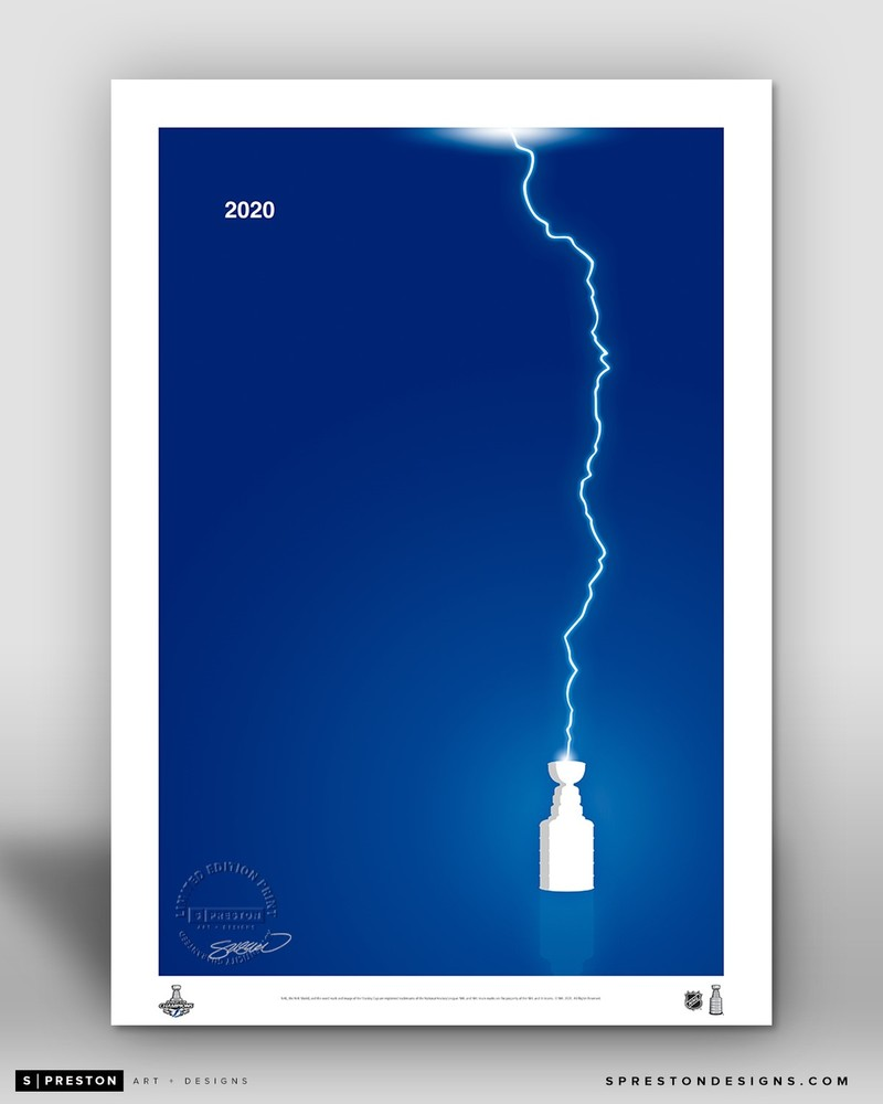 Tampa Bay Lightning Minimalist Stanley Cup 2020 Limited Edition Art Print (#201/350)