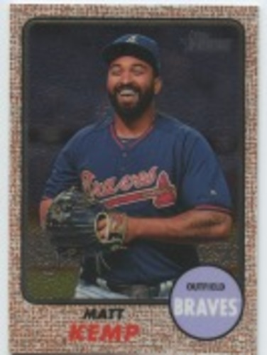 Photo of 2017 Topps Heritage Chrome #THC411 Matt Kemp