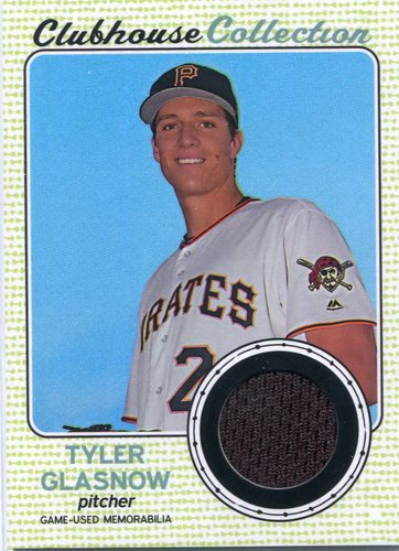 Photo of 2017 Topps Heritage Clubhouse Collection Relics #CCRTG Tyler Glasnow