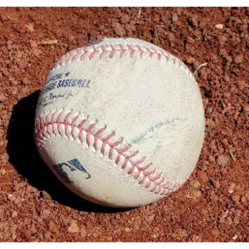 Photo of 2021 Phillies Game-Used Baseball - Jacob deGrom 1st Strikeout of 2021 (Multiple 100+ MPH Pitches)