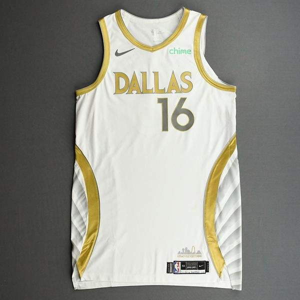 Image of James Johnson - Dallas Mavericks - Game-Worn - City Edition Jersey - 2020-21 NBA Season