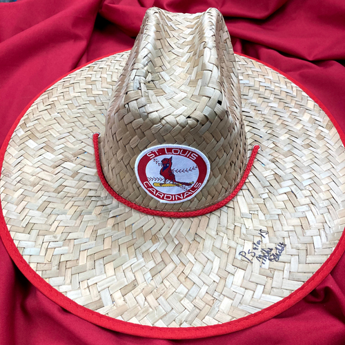 Photo of Mike Shildt Autographed Straw Hat