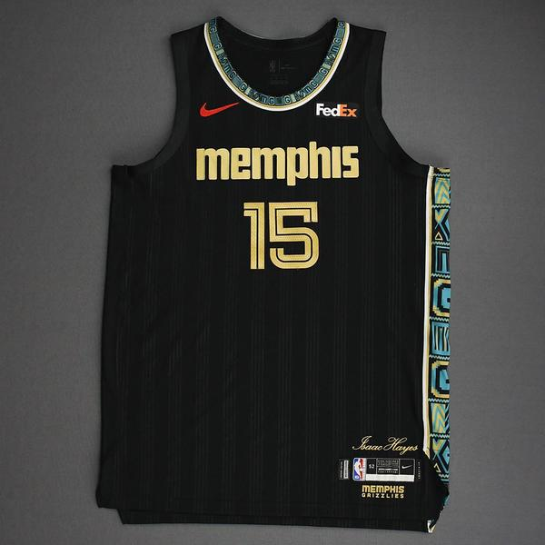 Image of Brandon Clarke - Memphis Grizzlies - Game-Worn City Edition Jersey - Dressed, Did Not Play (DNP) - 2021 NBA Playoffs