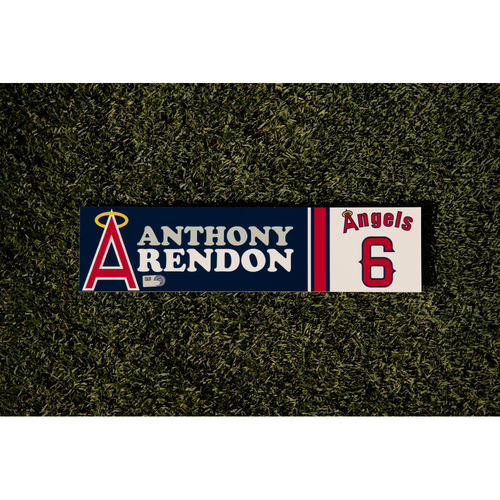 Photo of Anthony Rendon Team Issued 70's Throwback Weekend Locker Tag