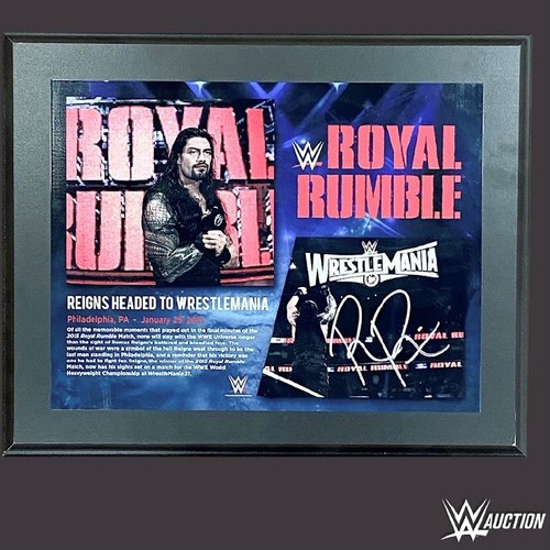 Photo of Roman Reigns SIGNED Royal Rumble 2015 Plaque