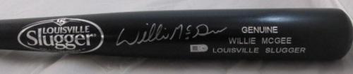 Willie McGee Autographed Black Louisville Slugger Bat